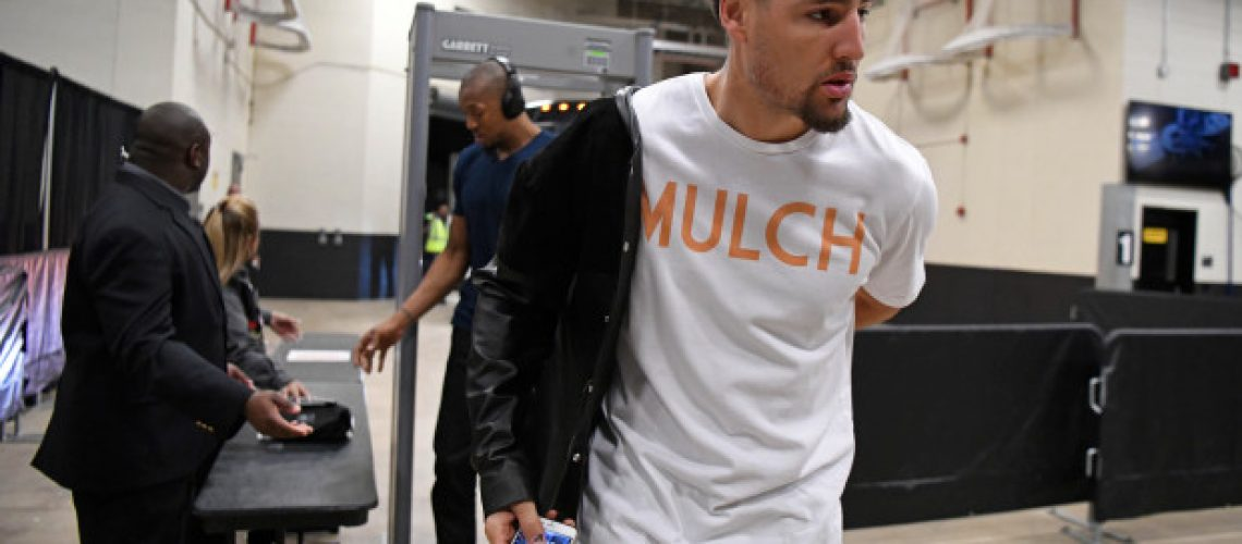 Klay Thompson wearing Old Mike Tee